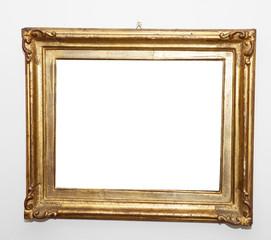 Empty frame, white wall
