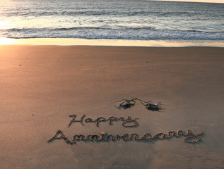 Happy Anniversary with Crabs