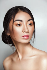 Beautiful Asian young and tender woman