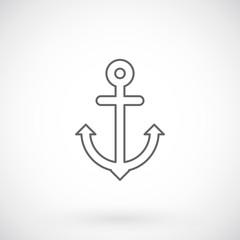 Anchor, summer line icon