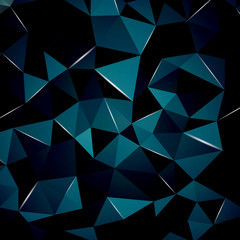 Abstract geometric background with perspective shiny lights. Ideal for cover design, technology concept works and cover designs