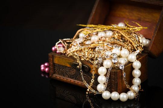 jewelry, pearl jewelry box