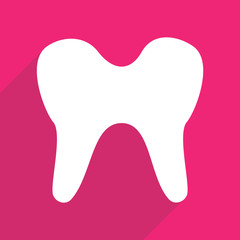 Web icons modern design for mobile shadow tooth