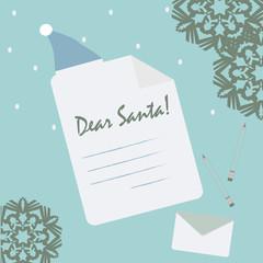 Illustration of paper sign for children gift list