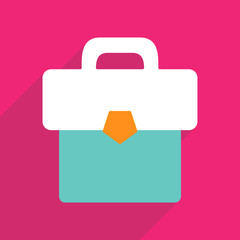 Web icons modern design for mobile shadow briefcase