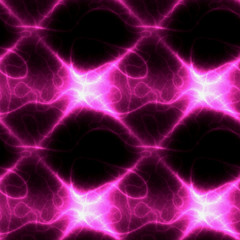 Abstract seamless dark pattern with glowing lines and electric arc