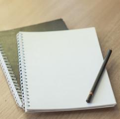 Notepad, pencil,