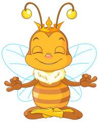 Meditating Queen Bee