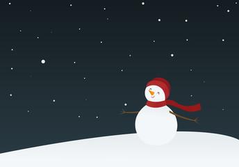 Snowman on a winter's night