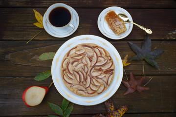 Rustic seasonal pie with pears