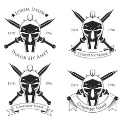 Gladiator badge, logo vector illustration