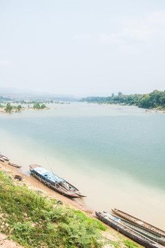Thai Boat in Makong river