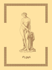 Old greek goddess Flore