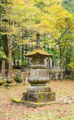 Stone lamp in the shrine