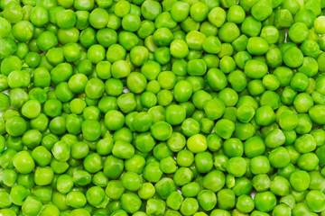 Green peas closeup