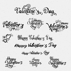 Happy valentines day lettering options