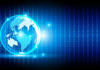 abstract Hi-tech digital technological background.illustration v