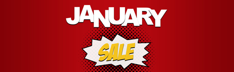 January Sale Christmas sale web banner