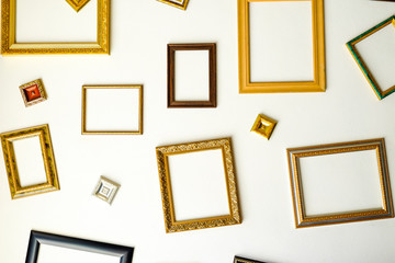 picture frame on white wall