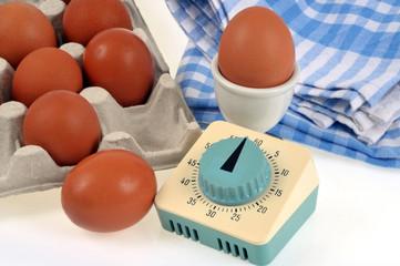 Le minuteur et les œufs