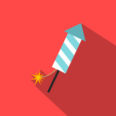 Firecracker christmas flat icon