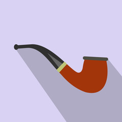 Tobacco pipe flat icon