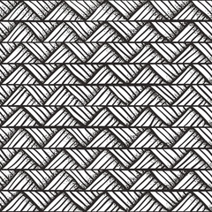 Hand drawn monochrome pattern.