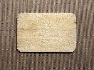 Cutting boards are made from wood, bamboo basketry woven