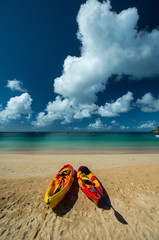 Kayak at Crocus Bay Beach, Anguilla Island