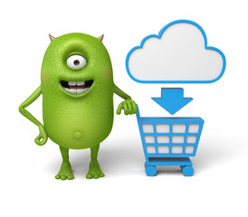 Little monster can enjoy cloud shopping