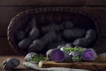 Chopped Purple Potatoes
