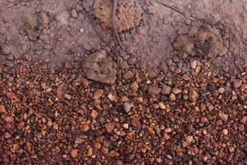 Layer of soil underground background