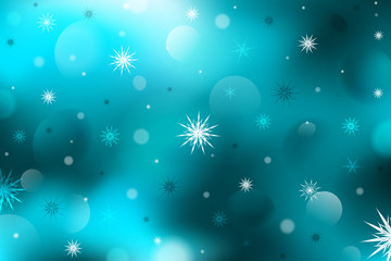 Winter background. Abstraction. Snowflakes.