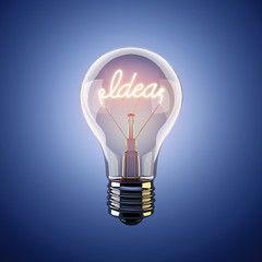 Inspiration concept light bulb metaphor idea