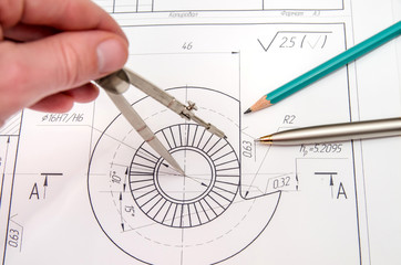 abstract engineering drawings
