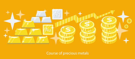 Course of Precious Metals Flat Design