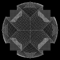 Wireframe Surface Vector Background