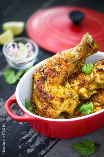 poulet tandoori plat indien stock photo and royalty free images on pic 97737861. Black Bedroom Furniture Sets. Home Design Ideas