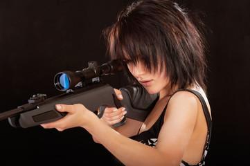 Portrait of dark-haired girl