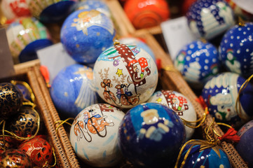 Christmas balls on the market in Vienna