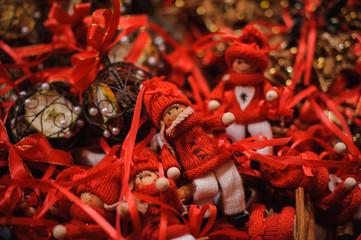 Christmas decoration sold on market