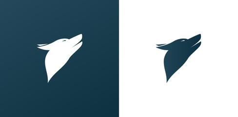 Dog/ Wolf Logo Icon Background - Isolated Illustration