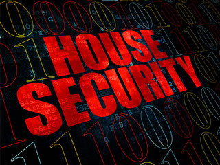 Safety concept: House Security on Digital background