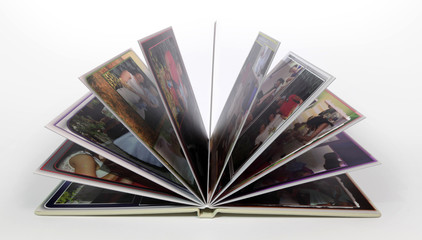 Foto książka, foto album, zdjęcia rodzinne, otwarty.