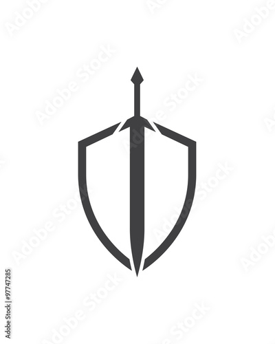 quotsword and shield logoquot stock image and royaltyfree