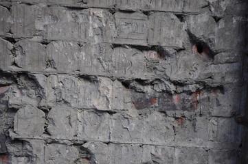 ściana z cegły tekstura szara