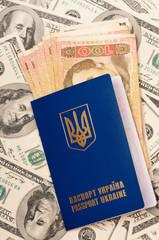 Passport Ukraine and money