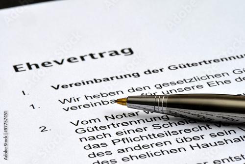 Ehevertrag Unterschrift Anwalt Heirat Hochzeit Ehe Scheidung