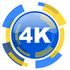 4k blue yellow glossy web icon