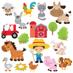 Farm animal vector illustration